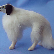 antique fur Borzoi Germany French fashion doll 5""