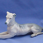 vintage porcelain bisque  greyhound Germany 7""