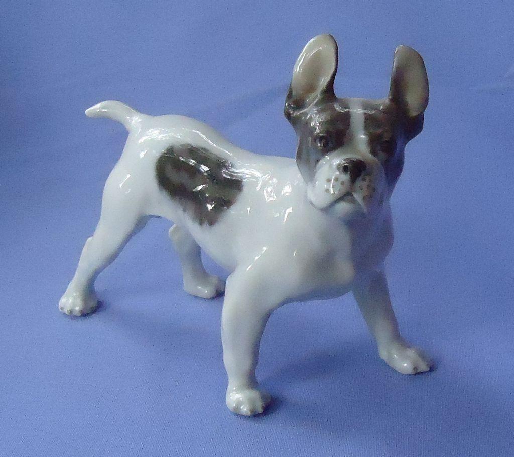 """Royal Copenhagen French bulldog 6"""""""