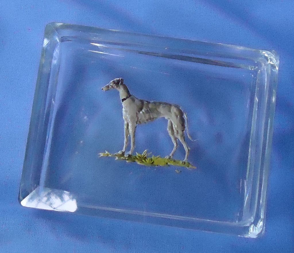 art deco Whippet Italian greyhound Czechoslovakia box