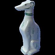 "art deco Whippet Italian  Greyhound decanter Goebel Germany 8"""