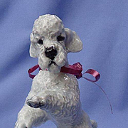 1930 grey POODLE Rosenthal dog Germany 7""