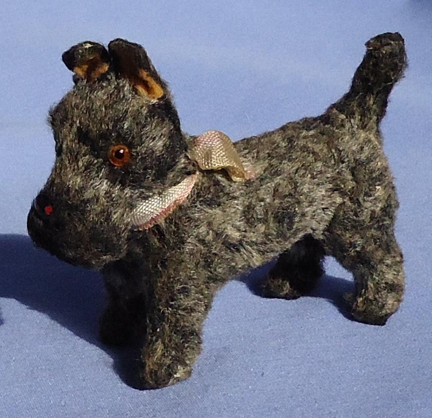 "Grey Scottish terrier salon dog Germany French fashion doll 4"""