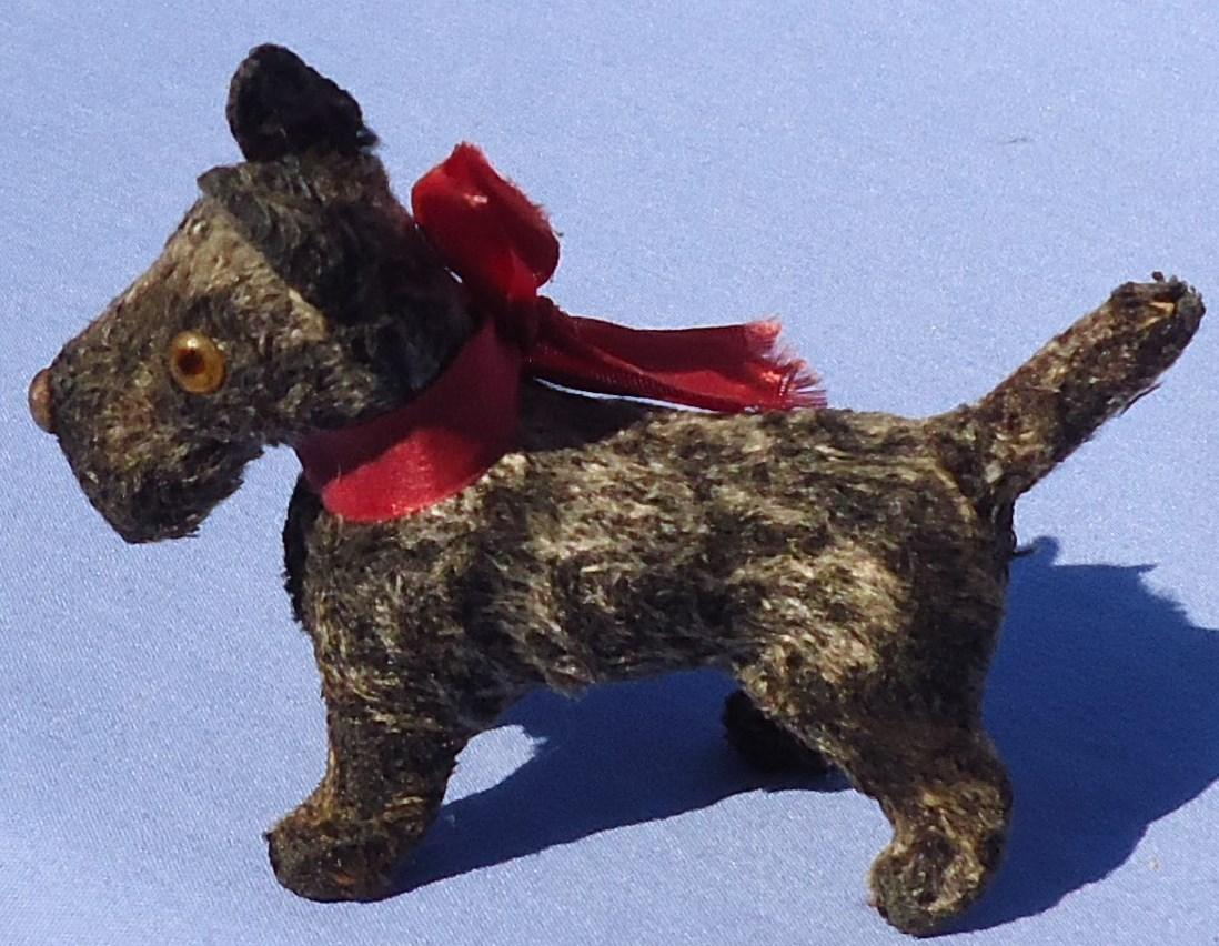 antique grey Scottish terrier Fripon dog French fashion doll Germany