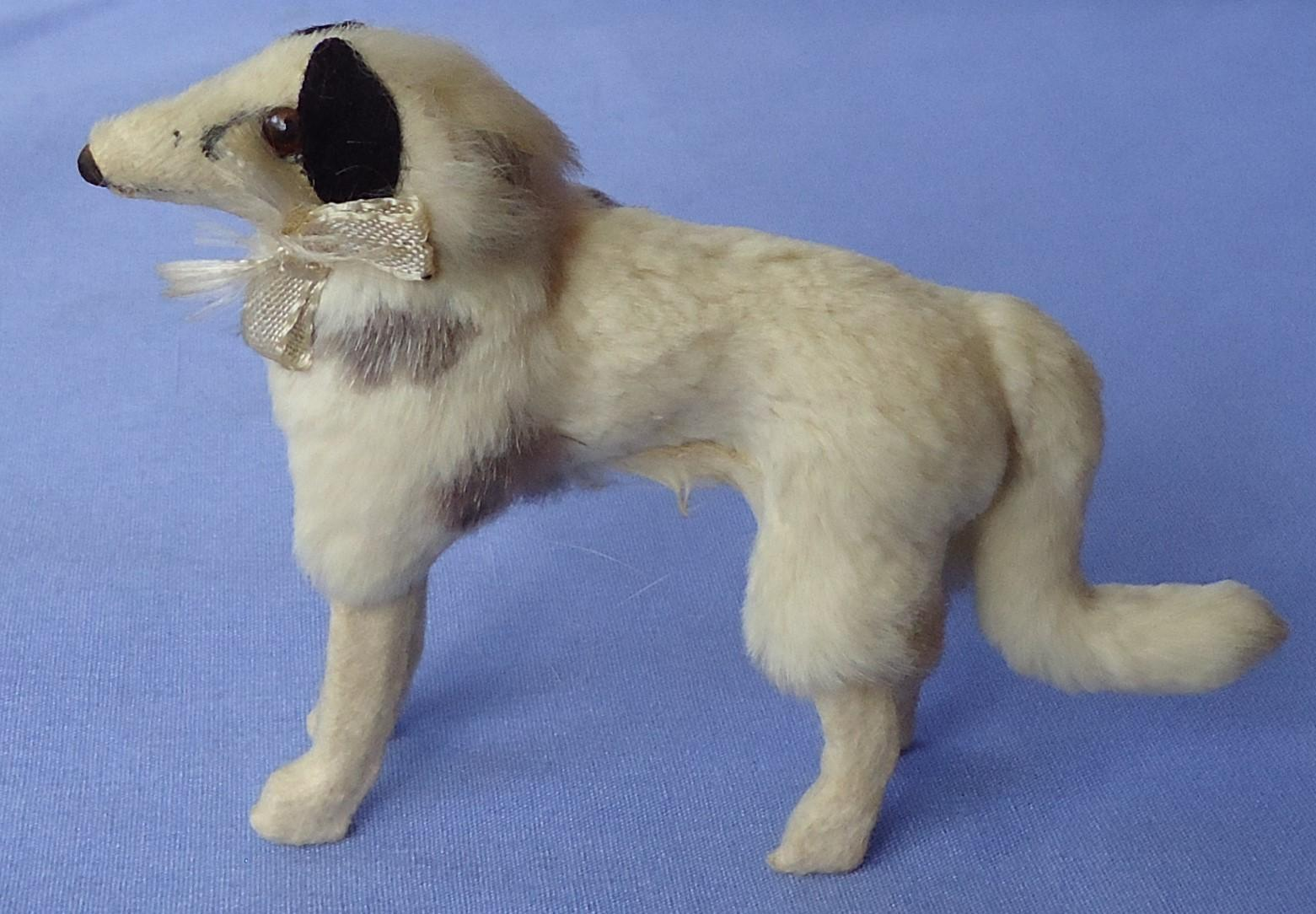 German fur Borzoi for French fashion doll label 4""