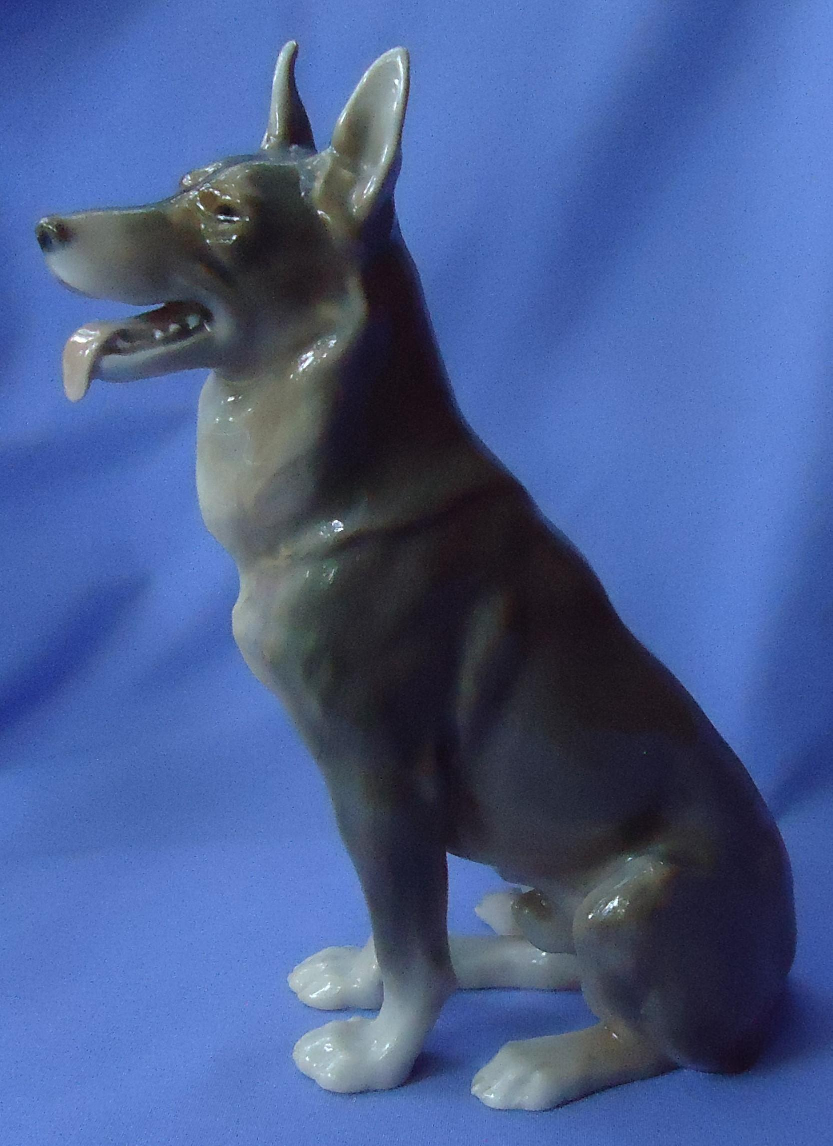 1950s German Shepherd Alsatian dog Bing & Grondahl 10""