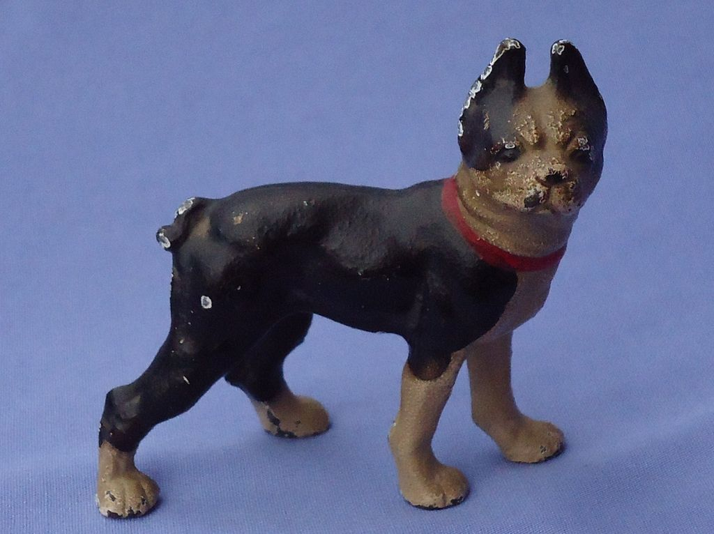 vintage Hubley cast iron Boston  Terrier original paint