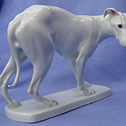 "Heubach Whippet Italian Greyhound dog 9"" Germany"