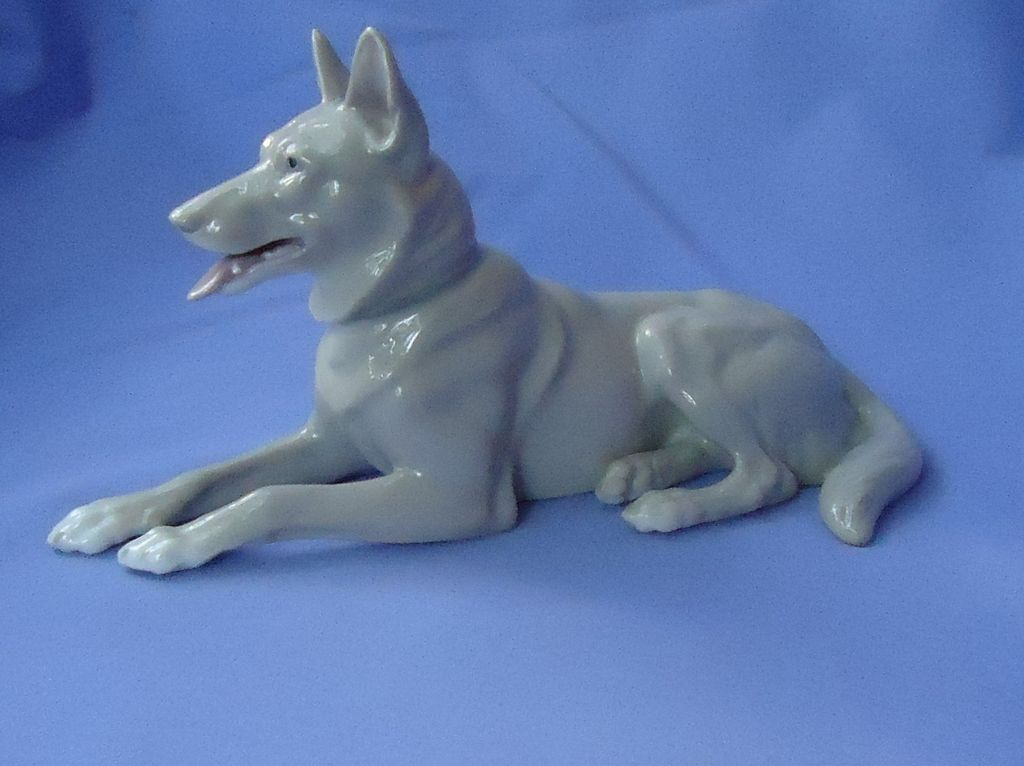 1900s Heubach  grey German Shepherd Germany 9""
