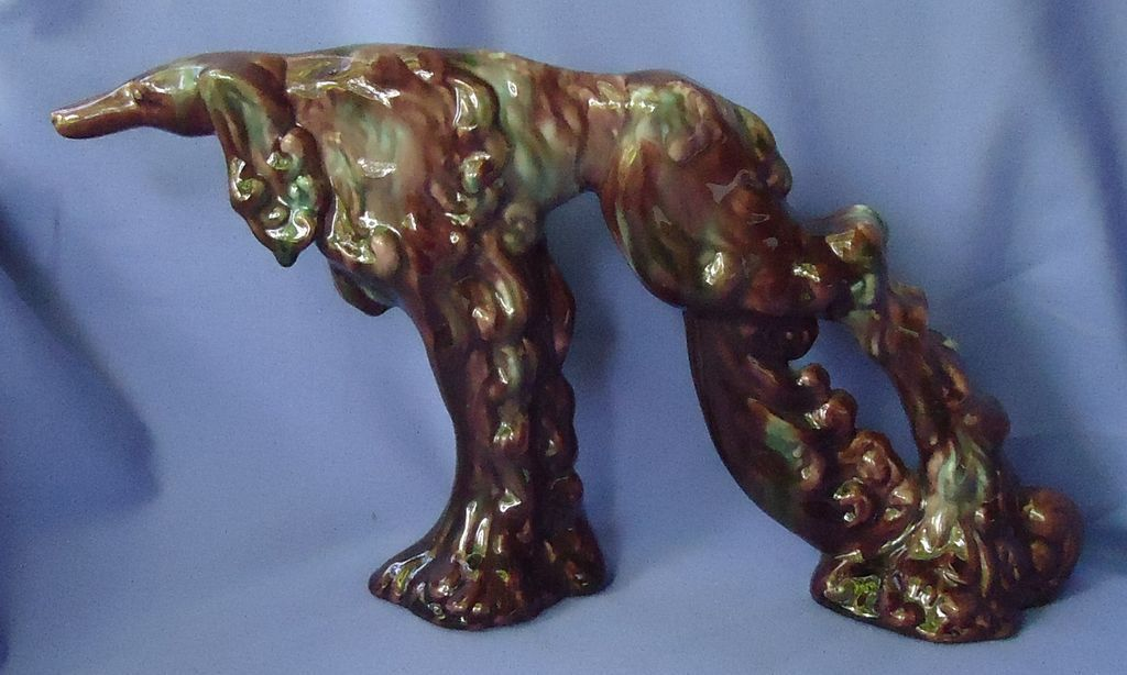 "art deco Haeger Afghan hound borzoi 13"""