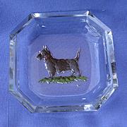 art deco Scottish terrier crystal salt Hoffman Czechoslovakia