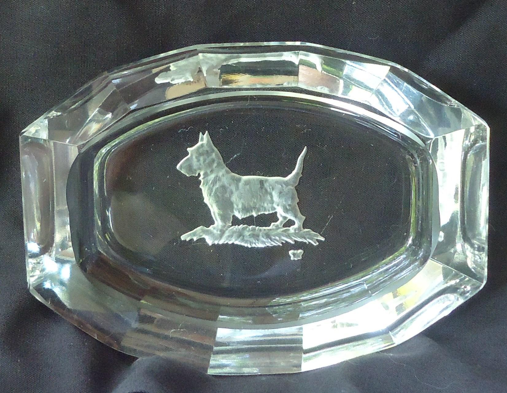 1920 art deco Scottish terrier  Czechoslovakia crystal