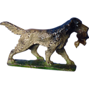 """antique Hubley English setter spaniel paperweight 5"""""""