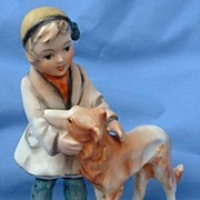...vintage girl and BORZOI Germany