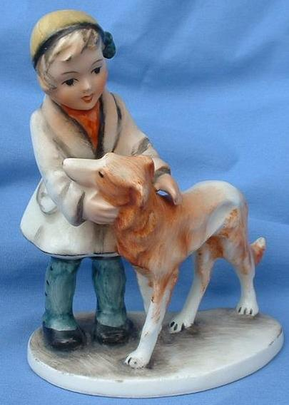 1950s girl w BORZOI Germany 6""