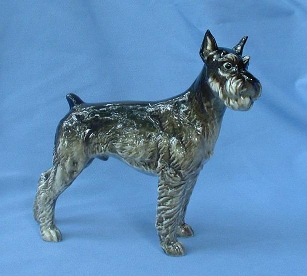 """1950s Schnauzer dog Hutschenreuther Germany 8"""""""