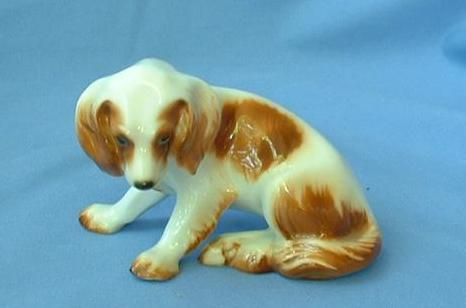 1950s Hutschenreuther Bavaria Brittany Spaniel English Setter hunting dog