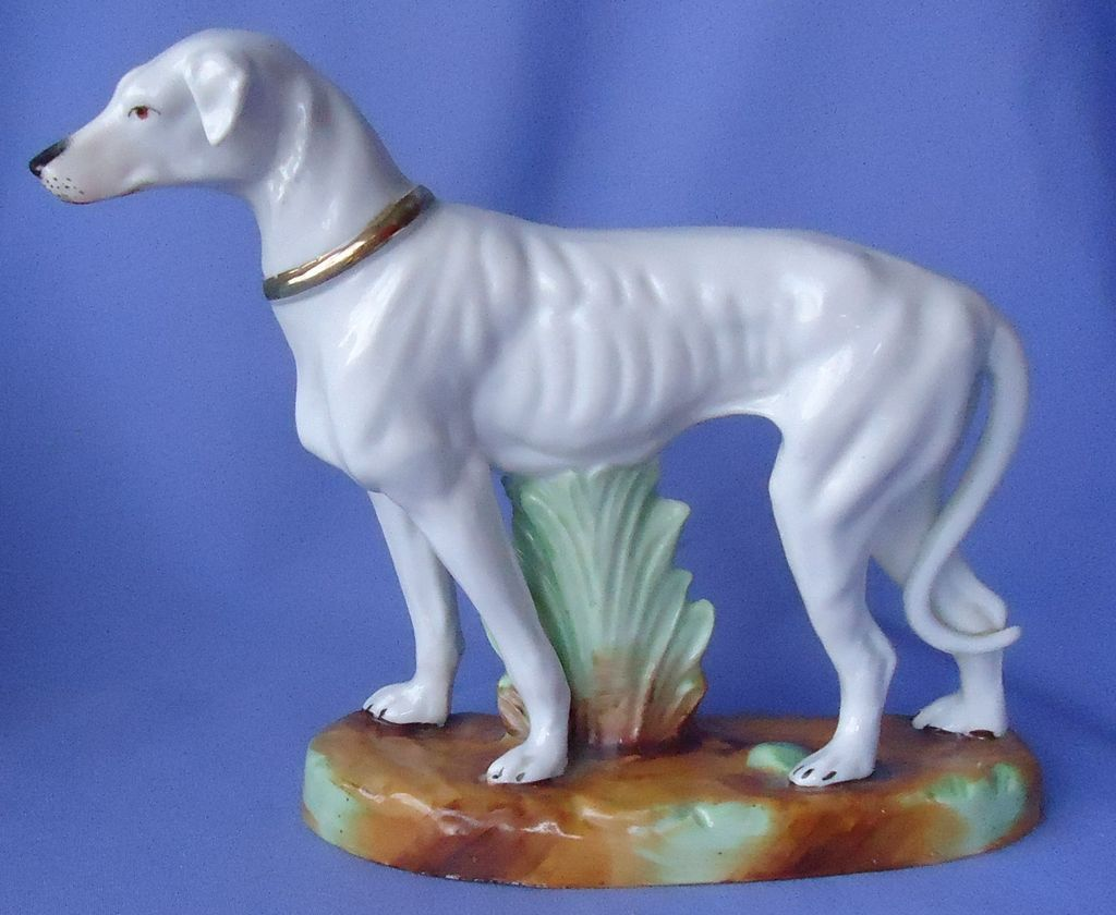 "antique Whippet Italian greyhound Germany 9"" right"