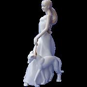 """Lady walking Whippet Italian greyhound dog McWilliams 11"""""""