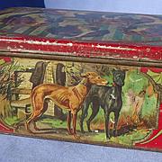 Italian Greyhound Bloodhound Irish setter German pointer tin
