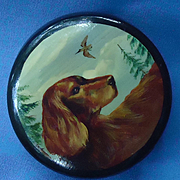 Irish Setter Russian lacquer box