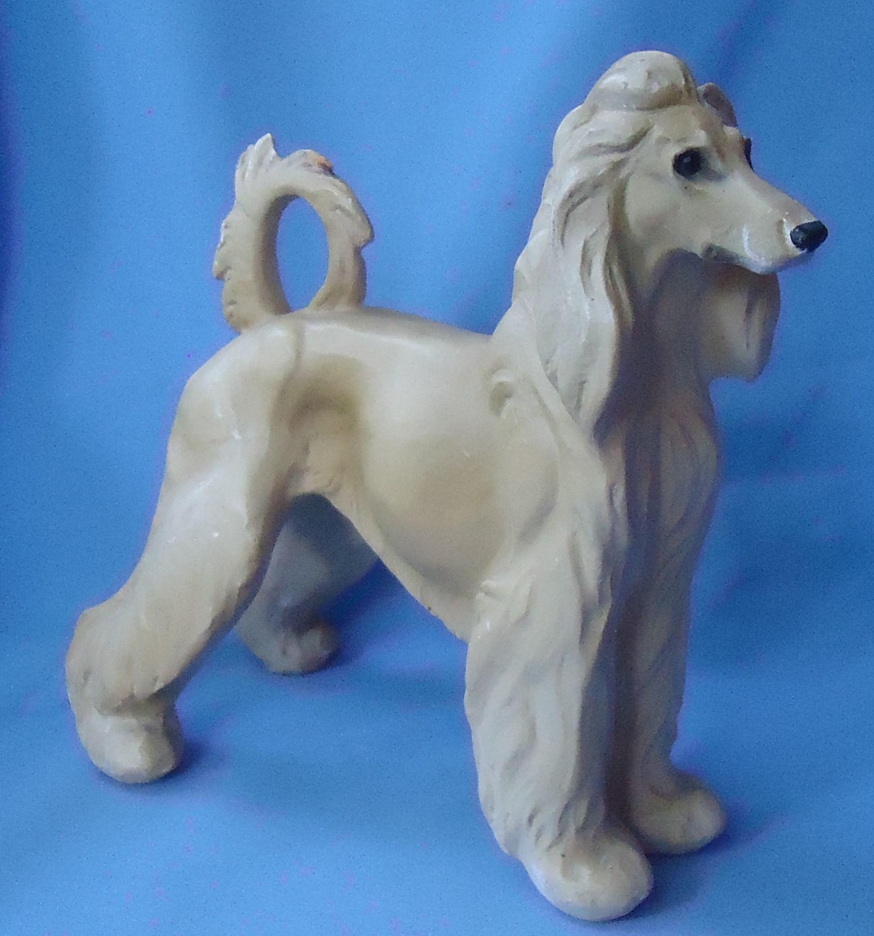 "1940s Afghan Hound dog Jan Allan 10"""