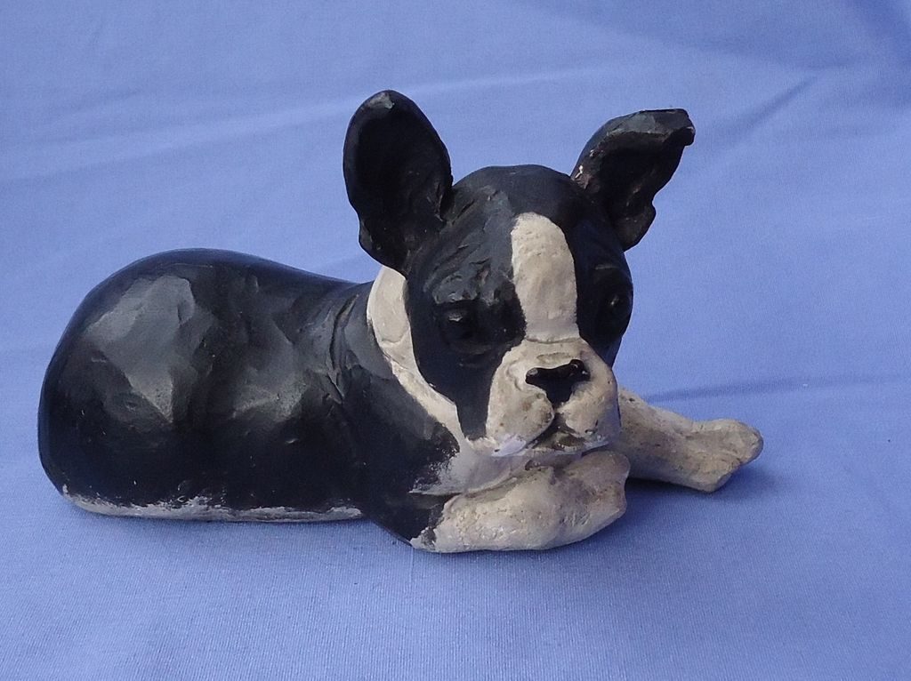 HTF  1940s Boston terrier puppy  Jan Allan