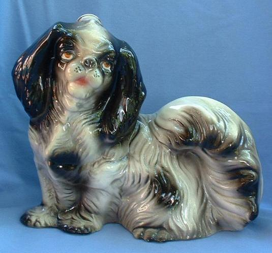 "10"" Japanese Chin  Shih Tzu decanter Italy"