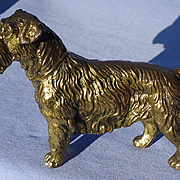 1940s J.B. Sealyham Cesky Terrier Jennings Bros bronze dog 5""
