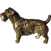 "1940s J.B. Sealyham Cesky Terrier Jennings Bros bronze dog 5"""