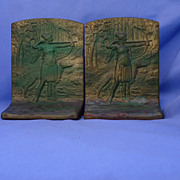 art deco Judd bookends Borzoi & huntress  only