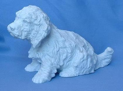"1950s Sussex Spaniel English Setter hunting dog puppy 7"" Germany"