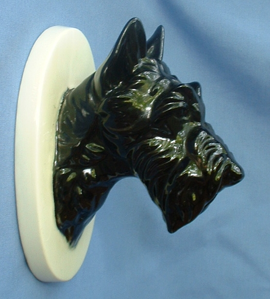 1940s black Scotty Scottish terrier Katzhutte Germany