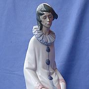 "lladro Pierrot & Afghan Hound 15"" mint w box"
