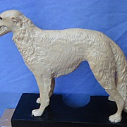 1950s Wolfschmidt's Borzoi bar display 16""