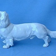 Meissen Germany  long hair Dachshund 9""