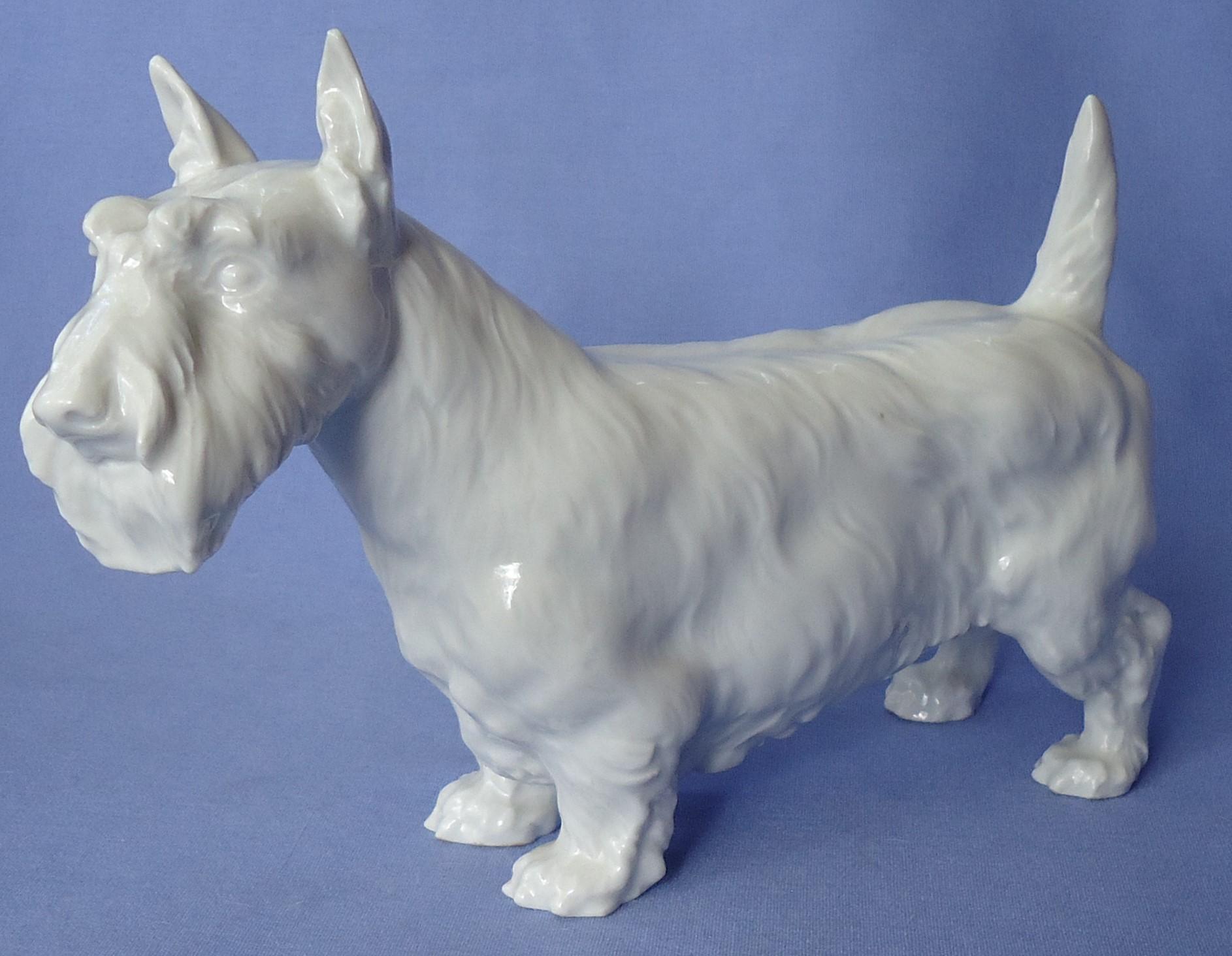 "Meissen Scottish terrier Scotty dog Germany 7"""