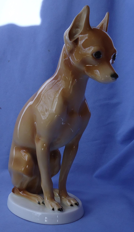 """Miniature Pinscher MIN PIN dog Hutschenreuther Germany 10"""""""