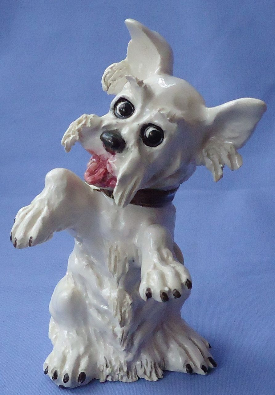 1950s  begging Scotty dog Mollica Italy 5""