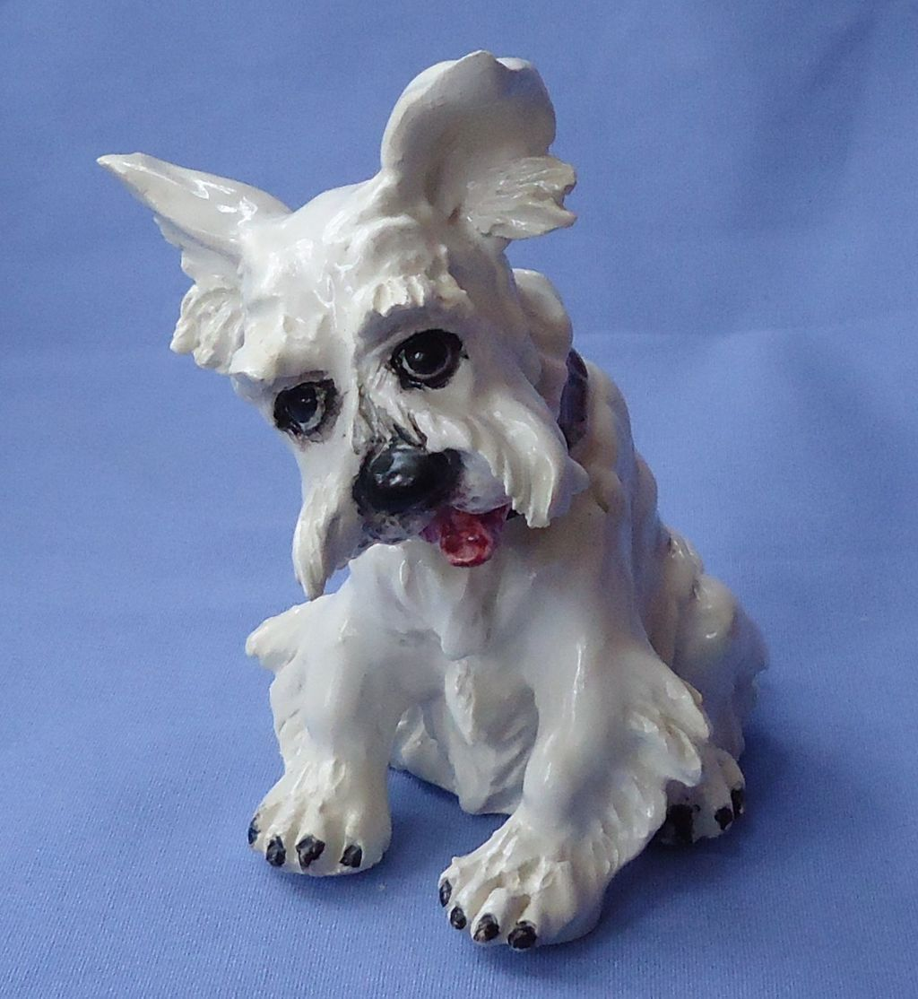 1950s Scottish terrier Scotty sitting pup Mollica Italy 5""