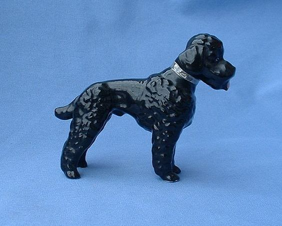 1950s Metzler Ortloff Germany black poodle 4""