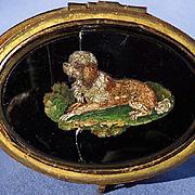 LOWCHEN micro mosaic dog jewelry box