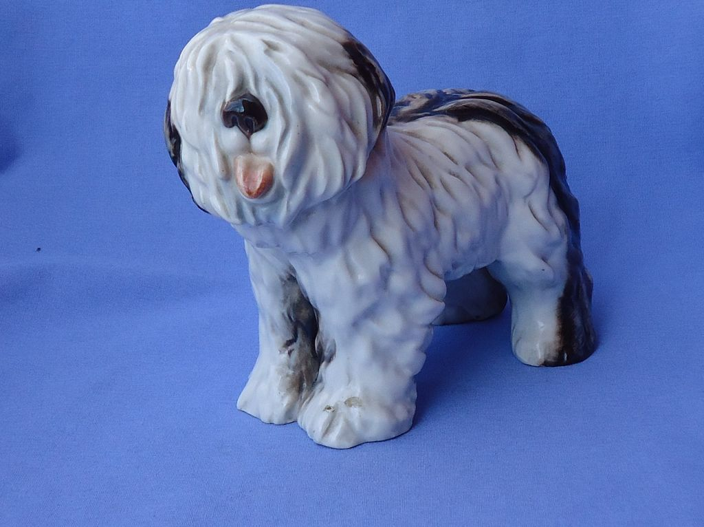 "1930s Old English sheepdog Cacciapuoti Italy 7"" OES"