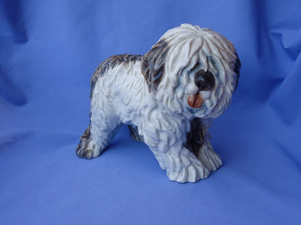 "9"" Old English sheepdog 1930s Cacciapuoti Italy OES"