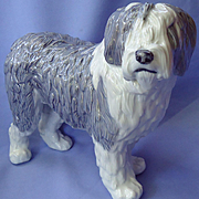 "Old English Sheepdog Royal Copenhagen Denmark dog OES 10"""