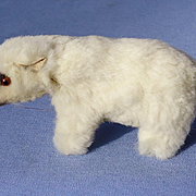 1940 polar bear fur toy Germany French fashion doll label