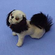 antique fur Pekingese  salon dog French fashion doll companion Germany label 3""