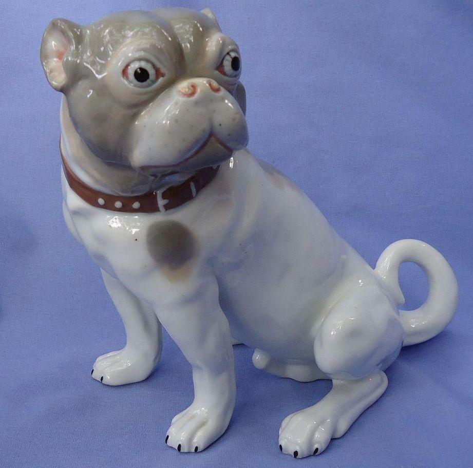 """1974 porcelain Pug 10"""""""