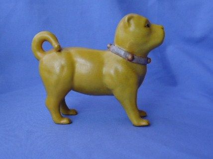"""vintage Pug with  bell collar 6"""""""