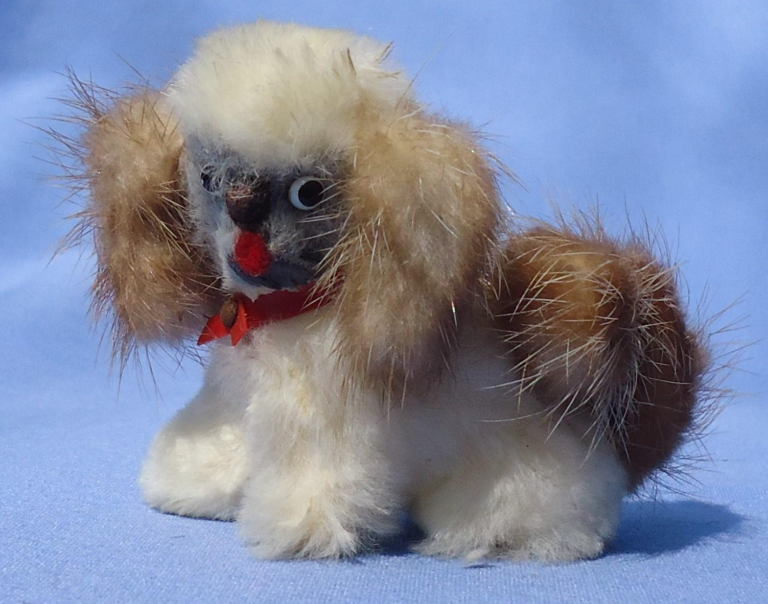 vintage Pekingese fur dog French fashion doll Germany 3""